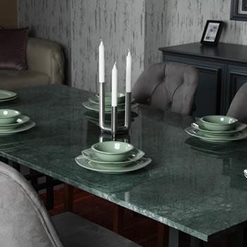 Verde Gerçek – Doğal Mermer Yemek Masası